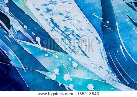 Abstraction, Turquoise, Hot Batik, Background Texture