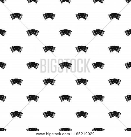 Accordion pattern. Simple illustration of accordion vector pattern for web