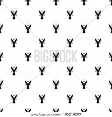 Crayfish pattern. Simple illustration of crayfish vector pattern for web