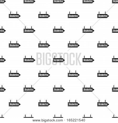 Oktoberfest road sign pattern. Simple illustration of Oktoberfest road sign vector pattern for web