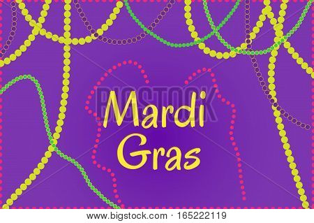 Picture ready for use in Mardi Gras holiday thematic