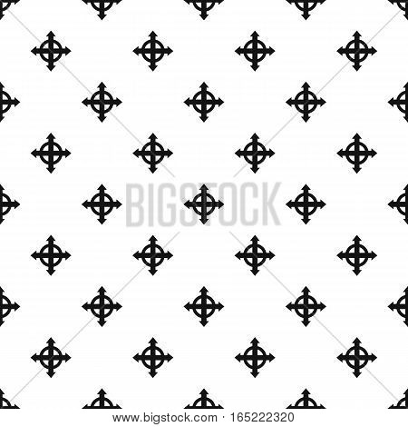 Expand arrows pattern. Simple illustration of expand arrows vector pattern for web