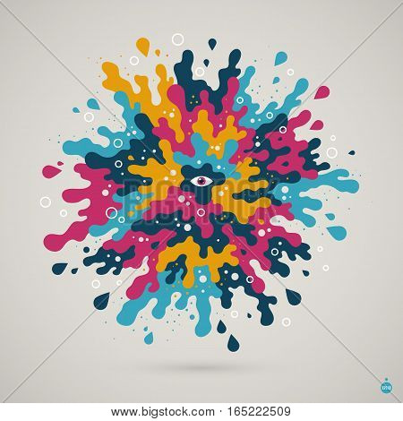Abstract Colorful Creature. Useful For Presentations And Advertising