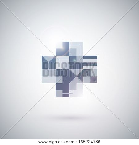 Abstract Geometric Element On White Background. Useful For Presentations And Advertising.