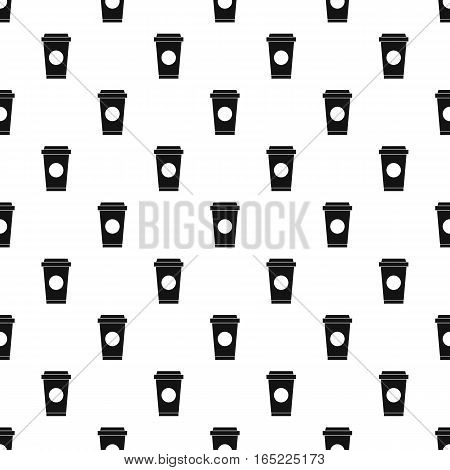 Paper cup of coffee or tea pattern. Simple illustration of paper cup of coffee or tea vector pattern for web