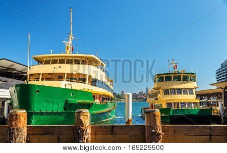 City Ferries at Circular Quay in Sydney - Australia