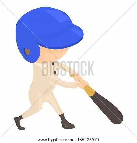 Baseball player icon. Cartoon illustration of baseball player vector icon for web