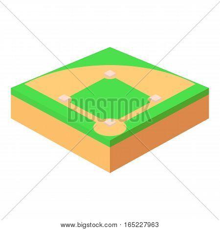 Baseball field icon. Cartoon illustration of baseball field vector icon for web