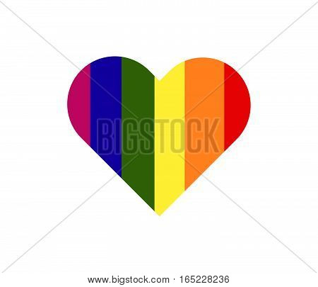 Heart Of Metro Sexual Colour. Symbol Of Metro Sexual. Vector Illustration.