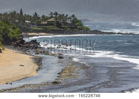 beautiful Tropical beach on Hawaii in USA.