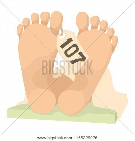Dead body icon. Cartoon illustration of dead body vector icon for web