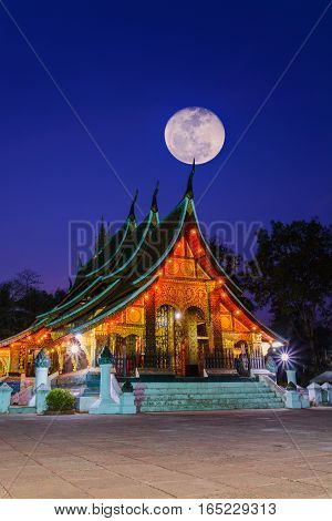 Xieng Thong Temple Landmark Of Luang Prabang, Laos