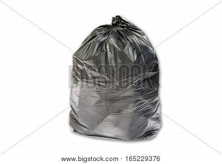 Trash bag isolated on white background with clipping path
