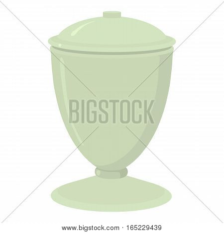 Urn icon. Cartoon illustration of urn vector icon for web