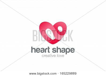 Heart Logo design vector template. St. Valentine day of love symbol. Cardiology Medical Health care Logotype concept icon.