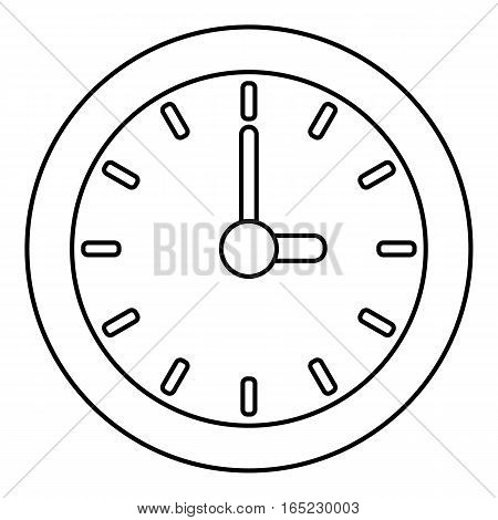 Clock icon. Outline illustration of clock vector icon for web
