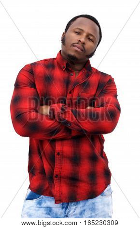 Cool Young Black Guy Staring With Arms Crossed
