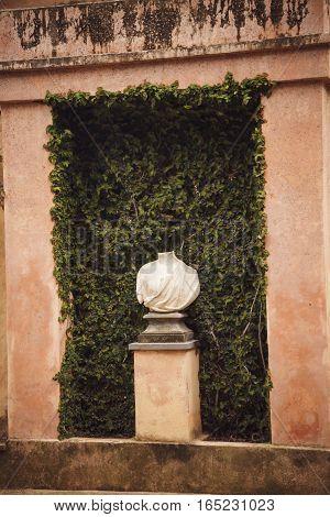 Retro Style Details In Parc Del Laberint Horta, Barcelona Spain