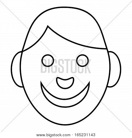 Boy icon. Outline illustration of boy vector icon for web