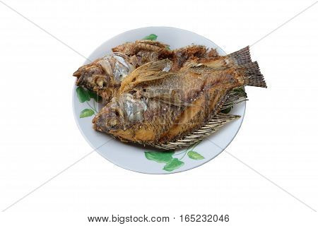 Fish fry, traditional food of Thailand, fish, food.