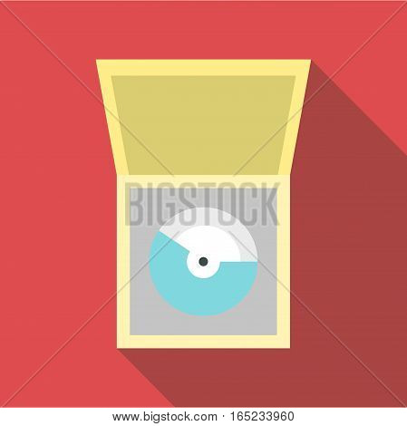 CD icon. Flat illustration of cd vector icon for web