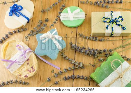 Handmade Soaps With Ribbons