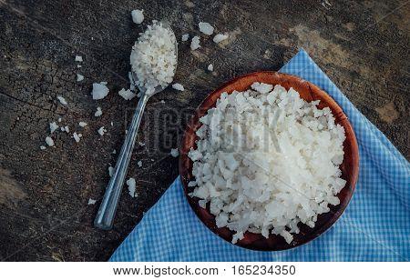 Big grain of salt, the salt from the salt.
