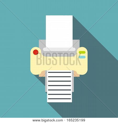 Fax icon. Flat illustration of fax vector icon for web
