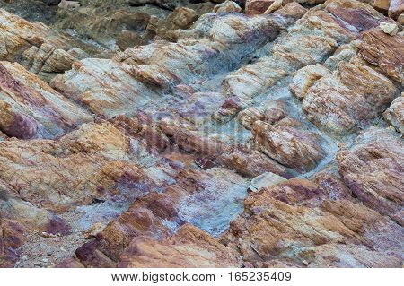 Natural sea rock and stone texture and background