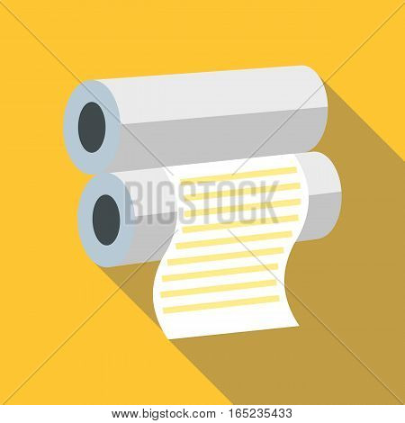 Fax paper icon. Flat illustration of fax paper vector icon for web