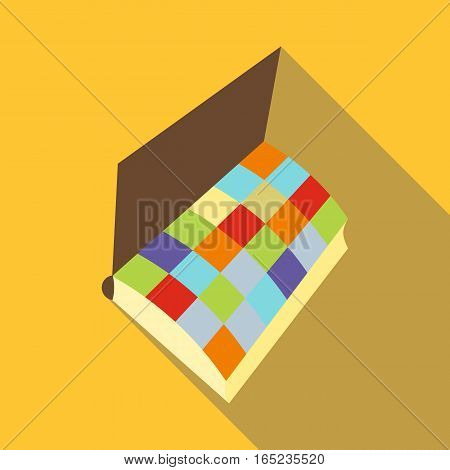 Notebook icon. Flat illustration of notebook vector icon for web