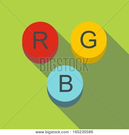 RGB button icon. Flat illustration of rgb button vector icon for web