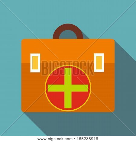 First aid icon. Flat illustration of first aid vector icon for web