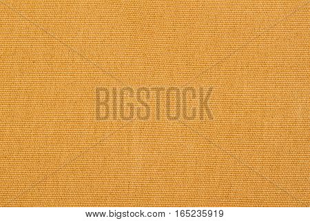 Abstract yellow Canvas texture for background close-up