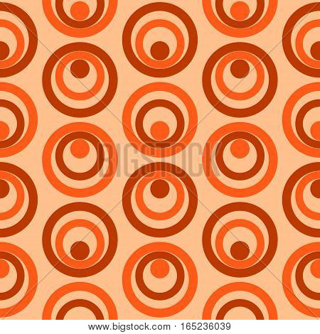 Abstract Colorful Retro Circles Seamless Pattern Vector Ilustration