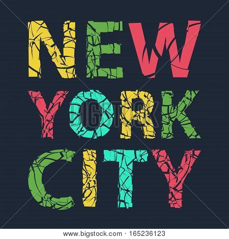 New York city typography, t-shirt graphics, vector illsutration