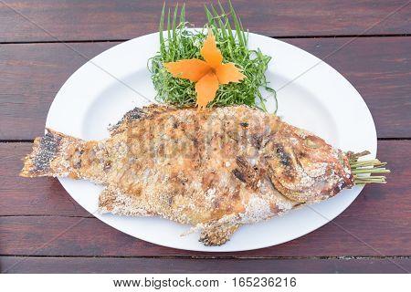 Thai Salt-Crusted Grilled Fish recipe, Thai foods