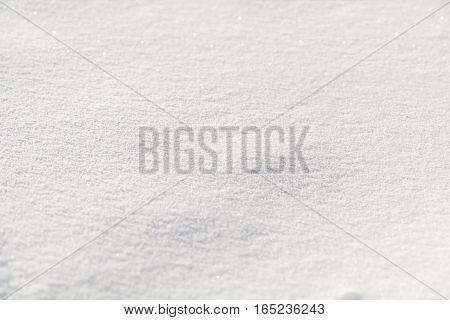 Natural Snow Texture White Background
