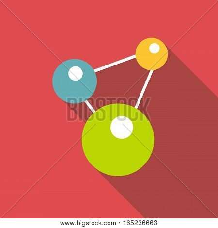 Chemistry icon. Flat illustration of chemistry vector icon for web