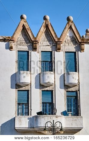 The building in the port city of Kos on the island of Kos in Greece