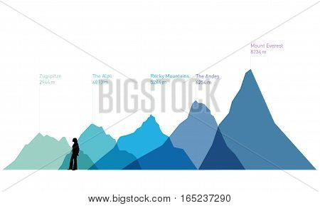 Vektor - Berge - Vector - Mountains - Icon - Symbol - Pictogram