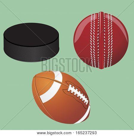 Vector illustration. Sport equipment. Hockey puck American ball