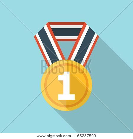 Vector Medal icon, design element for mobile and web applications, eps 10