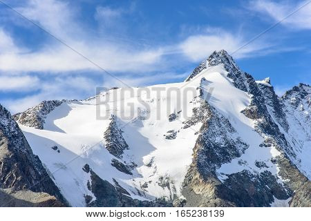 Mountain view of Franz Josefs Hohe Glacier, Hohe Tauern National Park, Austria