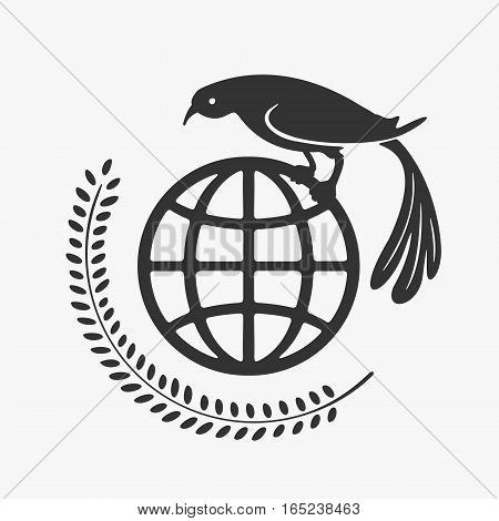 Vector Symbol Planet and Bird eps 8 file format