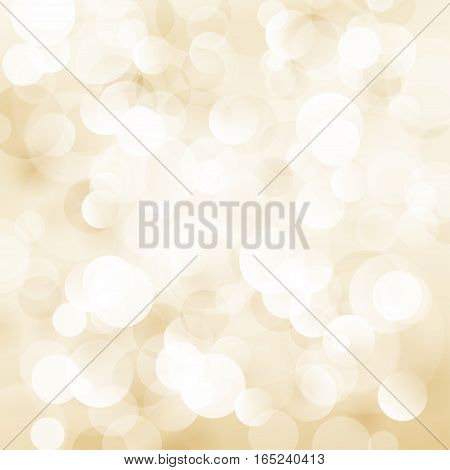 Beige Soft Bright Abstract Bokeh Background. Soft Glow of the Sun. Defocused Lights