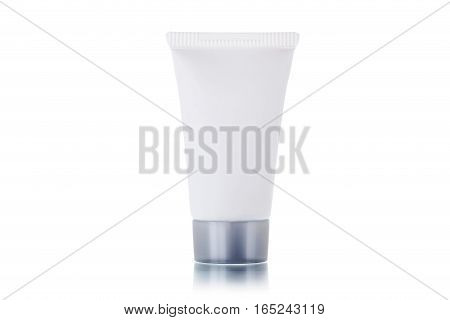 Cosmetic Bottle Isolated On A White Background