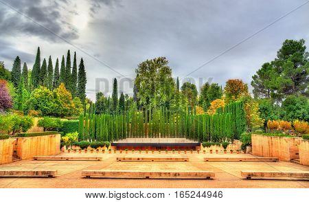 The Generalife Theatre in Granada - Spain, Andalusia. UNESCO heritage site