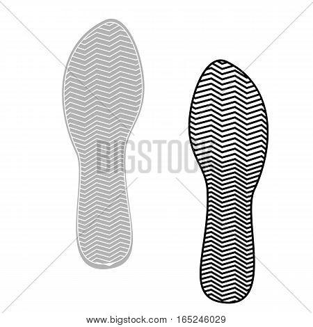 Vector illustration prints rough shoe flat style.