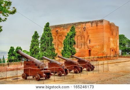 Cannons at Alhambra fortress in Granada - Spain